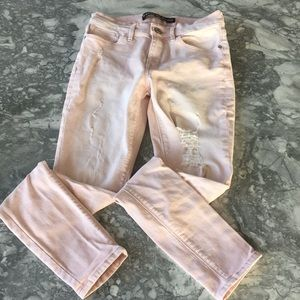 Pink distressed jeans!